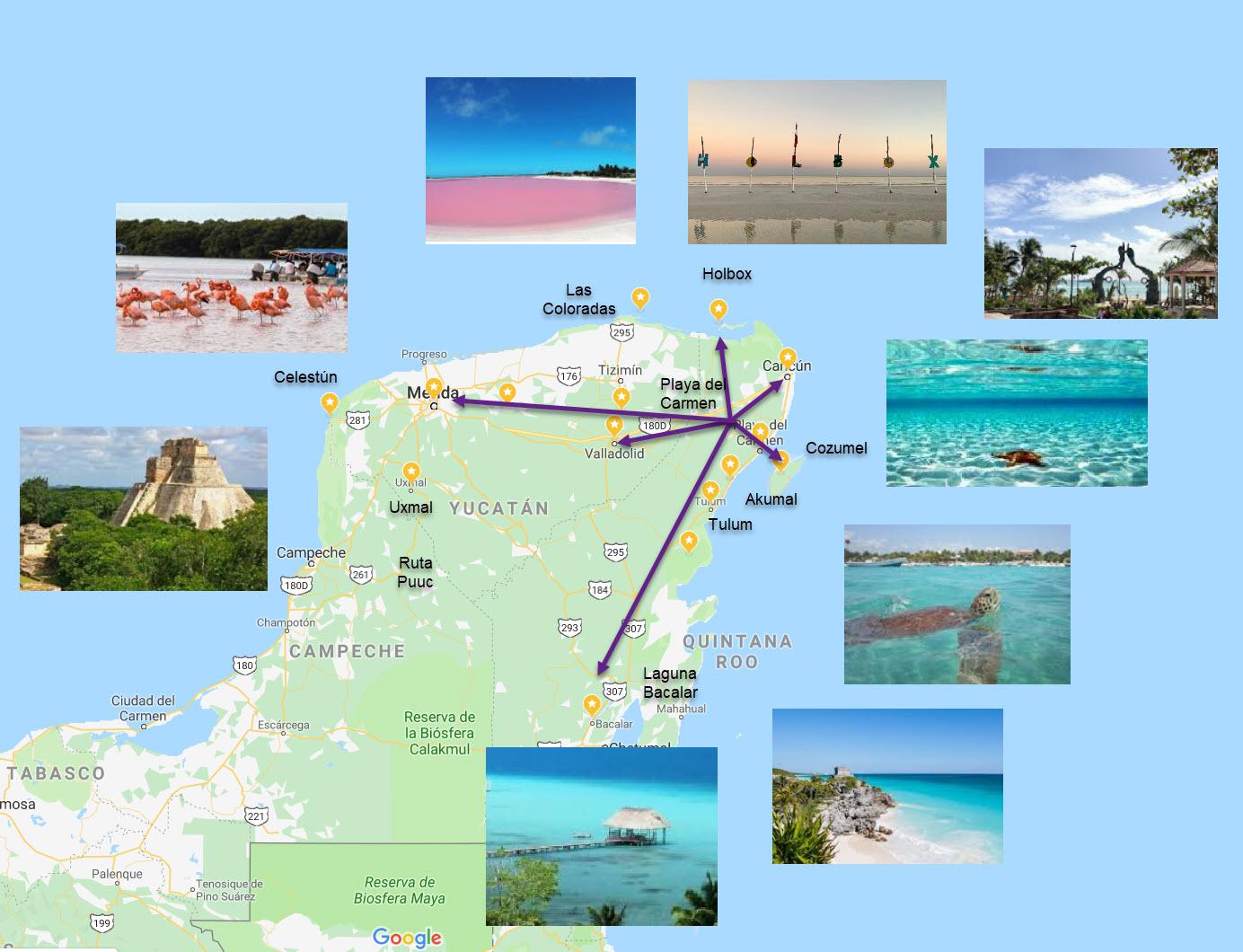 Ruta por la Riviera maya por tu cuenta | All you need is a map – All you  need is a map ☁☼✿